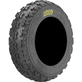ITP Holeshot MXR6 ATV Front Tire - 19x6-10 - 1995 Yamaha YFM 80 / RAPTOR 80 ITP Sandstar Rear Paddle Tire - 18x9.5-8 - Right Rear