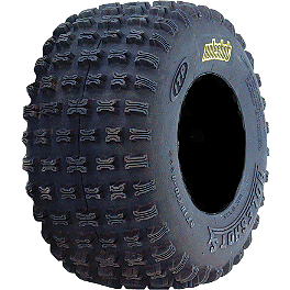 ITP Holeshot SX Rear Tire - 18x10-8 - 2004 Polaris SCRAMBLER 500 4X4 ITP T-9 GP Front Wheel - 10X5 3B+2N Black