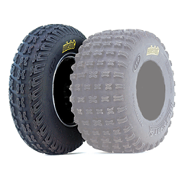 ITP Holeshot SX Front Tire - 20x6-10 - 2002 Polaris SCRAMBLER 90 ITP Sandstar Rear Paddle Tire - 20x11-8 - Left Rear