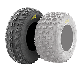 ITP Holeshot XCR Front Tire - 21x7-10 - 2000 Yamaha YFM 80 / RAPTOR 80 ITP Sandstar Rear Paddle Tire - 22x11-10 - Left Rear
