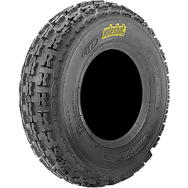 ITP Holeshot XC ATV Front Tire - 22x7-10 - 2004 Kawasaki KFX700 ITP Sandstar Rear Paddle Tire - 18x9.5-8 - Left Rear