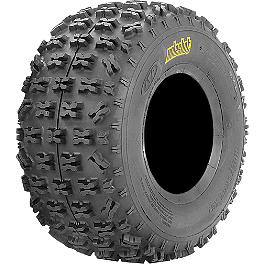 ITP Holeshot XCT Rear Tire - 22x11-10 - 2008 Honda TRX450R (KICK START) ITP Quadcross XC Front Tire - 22x7-10