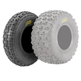 ITP Holeshot XCT Front Tire - 23x7-10 - 2000 Yamaha YFM 80 / RAPTOR 80 ITP Sandstar Rear Paddle Tire - 18x9.5-8 - Right Rear