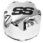 ITP SS Alloy Center Cap - Chrome - Dirt Bike Wheel Hardware