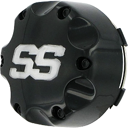 ITP SS Alloy Center Cap - Black - 1994 Yamaha YFM350ER MOTO-4 ITP SS Alloy Center Cap - Chrome