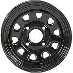 ITP Delta Steel Front Or Rear Wheel - 12 X 7 Black - ITP Utility ATV Products
