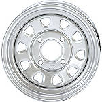 "ITP Delta Steel Front Or Rear Wheel - 12"" X 7"" Silver - ITP Utility ATV Products"