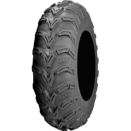 ITP Mud Lite AT Tire - 25x11-10 - 2010 Polaris RANGER 500 EFI 4X4 Moose 393X Front Wheel - 12X7 4B+3N Black
