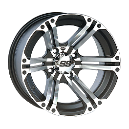 ITP SS212 Front Wheel - 12X7 Machined - 1998 Yamaha BIGBEAR 350 2X4 Moose 387X Rear Wheel - 12X8 2B+6N Black