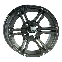 ITP SS212 Front Wheel - 12X7 Black - 2010 Yamaha RHINO 700 Moose 387X Rear Wheel - 12X8 4B+4N Black