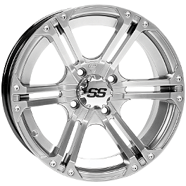 ITP SS212 Rear Wheel - 15X7 Platinum - 2010 Suzuki KING QUAD 750AXi 4X4 Kenda Bearclaw Front / Rear Tire - 25x12.50-12