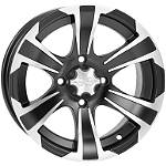 ITP SS312 Front Wheel- 12X7 Machined Black - Utility ATV Tire and Wheels