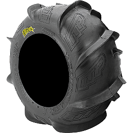 ITP Sandstar Rear Paddle Tire - 18x9.5-8 - Right Rear - 2010 Polaris OUTLAW 525 S ITP SS112 Sport Front Wheel - 10X5 3+2 Black