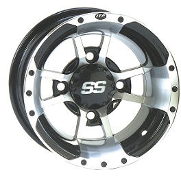 ITP SS112 Sport Front Wheel - 10X5 3+2 Machined - 2011 Yamaha RAPTOR 125 ITP T-9 GP Rear Wheel - 10X8 3B+5N Polished
