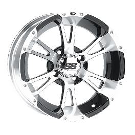 ITP SS112 Rear Wheel - 14X8 3+5 Machined - ITP SS312 Rear Wheel - 14X8 Machined Black