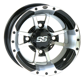 ITP SS112 Sport Rear Wheel - 9X8 3+5 Machined - 2010 Polaris OUTLAW 525 S ITP T-9 Pro Baja Front Wheel - 10X5 3B+2N Black