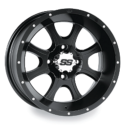 ITP SS108 Front Wheel - 12X7 Black - 2008 Can-Am OUTLANDER MAX 650 Moose 387X Rear Wheel - 12X8 4B+4N Black