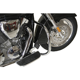 "Jardine Highway Bar 1-1/4"" - Chrome - 2008 Yamaha Roadliner 1900 Midnight - XV19M Memphis Shades Trigger-Lock Mounting Kit For Sportshields"