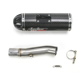 Jardine RT-5 Slip-On Carbon Fiber Exhaust - 2008 Suzuki GSX-R 750 Jardine RT-5 Slip-On Titanium Exhaust
