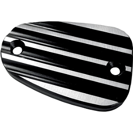 Joker Machine Front Master Cylinder Cover - Finned - 2012 Triumph Bonneville Joker Machine Front Master Cylinder Cover - Smooth