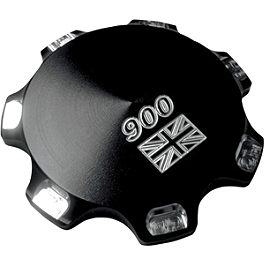 Joker Machine Billet Gas Cap - Union Jack 900 - Joker Machine Ignition Switch Relocation Bracket