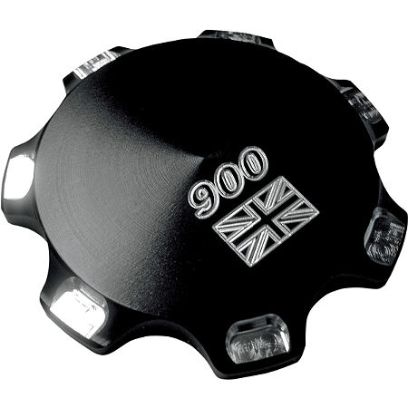 Joker Machine Billet Gas Cap - Union Jack 900 - Anodized Black