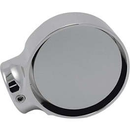 Joker Machine Concealed Bar End Mirror - 2 Tech - Joker Machine Viewtech 4 Oval Mirror - Flamed