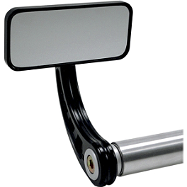 Joker Machine Rectangle Bar End Mirrors - Joker Machine Viewtech 5 Teardrop Mirror - Smooth