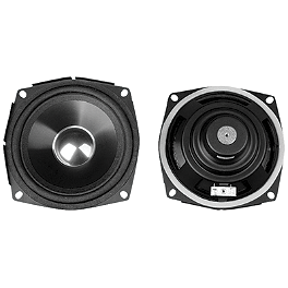 J&M Audio Hi-Performance Rear Speakers - Show Chrome 4-1/2