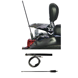 J&M License Plate CB Antenna Kit - J&M Audio Full-Face Style Stereo Helmet With 5-Pin Single-Section Cord