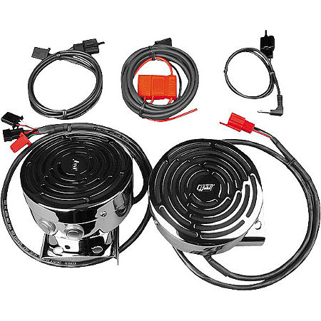 J&M Audio Self-Amplified Handlebar Speaker Kit - Main