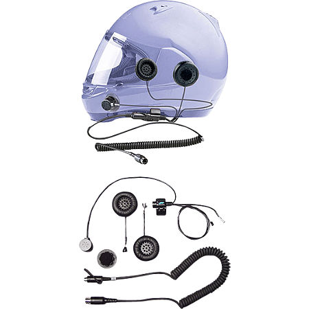 J&M Audio Full-Face Style Stereo Helmet With 5-Pin Single-Section Cord - Main