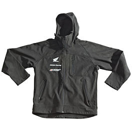Joe Rocket Honda Racing Soft Shell Hooded Jacket - Joe Rocket Honda Racing Soft Shell Jacket