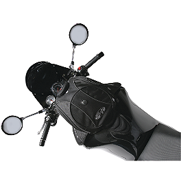 Joe Rocket Manta Tank Bag XL - Black - Motocentric Mototrek 19L Tank Bag - Strap Mount