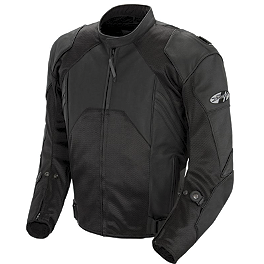 Joe Rocket Radar Dark Leather Jacket - Scorpion Ventech Jacket