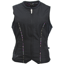 Joe Rocket Women's Street Vest - River Road Women's Plain Leather Vest