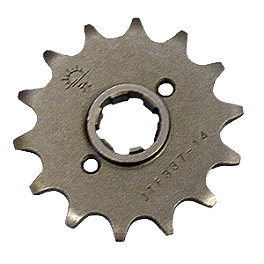 JT Steel Front Sprocket - 2007 Honda CR85 JT Steel Chain And Sprocket Kit