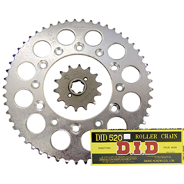 JT Steel Chain And Sprocket Kit - 2000 Kawasaki KX100 Sunstar Chain & Steel Sprocket Combo