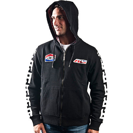 JT Racing Red / Blue Logo Hoody - Main