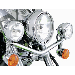 Kawasaki Genuine Accessories Light Bar - Chrome - Kawasaki Genuine Accessories KQR Windshield Conversion Kit