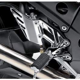 Kawasaki Genuine Accessories Right Chrome Footpeg Mount - Graves 7 Degree Clip-Ons - 46mm