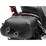 Kawasaki Genuine Accessories Saddlebags - Plain - Kawasaki OEM Parts Cruiser Luggage and Racks