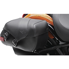 Kawasaki Genuine Accessories SE Saddlebag - Kawasaki Genuine Accessories Luggage Rack - Black