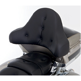 Kawasaki Genuine Accessories Pillow Top Trunk Backrest - Tall - Kawasaki Genuine Accessories Trunk Kit - Ebony Black