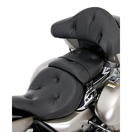 Kawasaki Genuine Accessories Rider Heated Pillow Top Gel Seat - Show Chrome Passenger Slider Peg System - Celestar