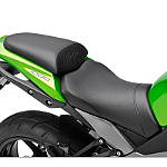 Kawasaki Genuine Accessories Two-Piece Carbon Trim Gel Seat - Kawasaki OEM Parts Motorcycle Products