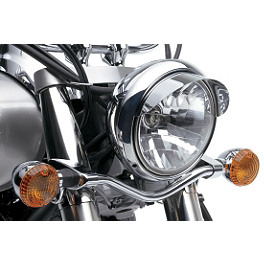 Kawasaki Genuine Accessories Headlight Visor - Baron Custom Accessories Round Master Cylinder Cover