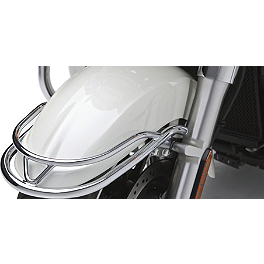 Kawasaki Genuine Accessories Front Fender Rail - 2010 Kawasaki Vulcan 1700 Nomad - VN1700C Show Chrome Vantage Rear Highway Boards
