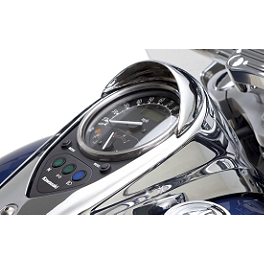 Kawasaki Genuine Accessories Speedometer Visor - Chrome - 2013 Kawasaki Vulcan 900 Classic LT - VN900D Show Chrome Vantage Rear Highway Boards
