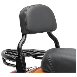 Kawasaki Genuine Accessories Passenger Backrest - Black - Kawasaki Genuine Accessories Luggage Rack - Black